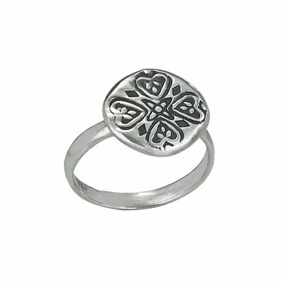 Sterling Silver Stamp Coin Ring - RTM2905