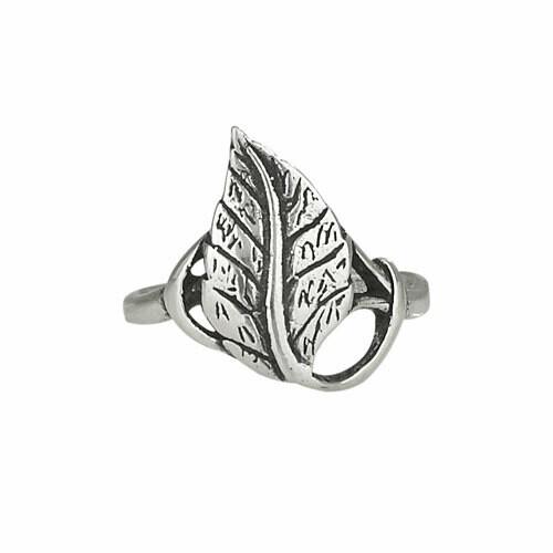 Sterling Silver Leaf Ring - RTM2749