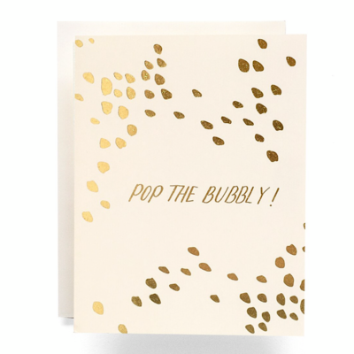 Pop The Bubbly Greeting Card - AQ27