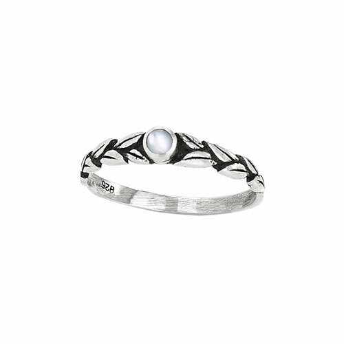 Sterling Silver Mother of Pearl Leaf Ring RTM2739