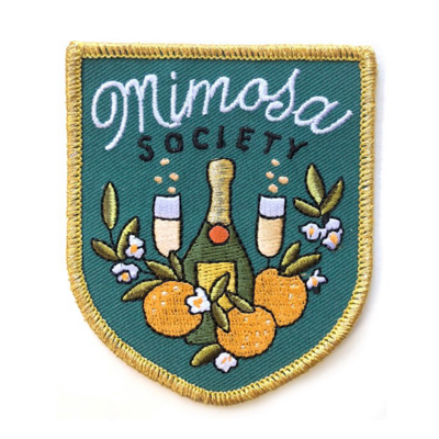 Mimosa Society Embroidered Patch - AQPA10
