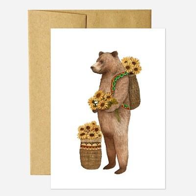 PH16 Flower Messenger: The Bear Greeting Card