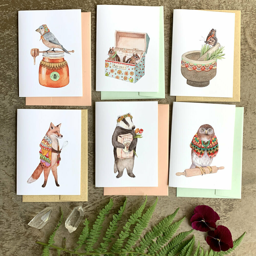 Woodland Kitchen Small Card Pack - PH103