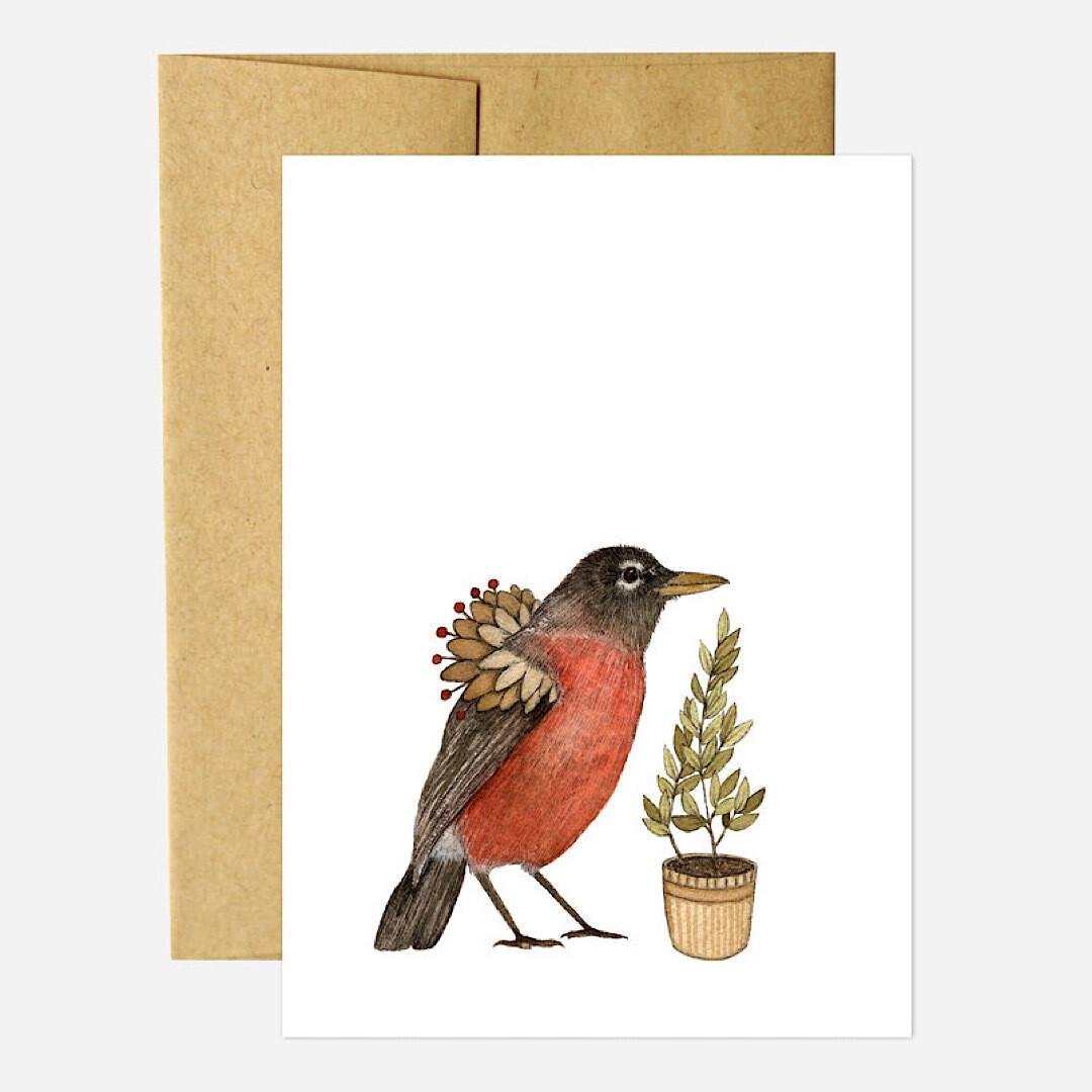 PH28 Robin - Critters & Plants Greeting Card