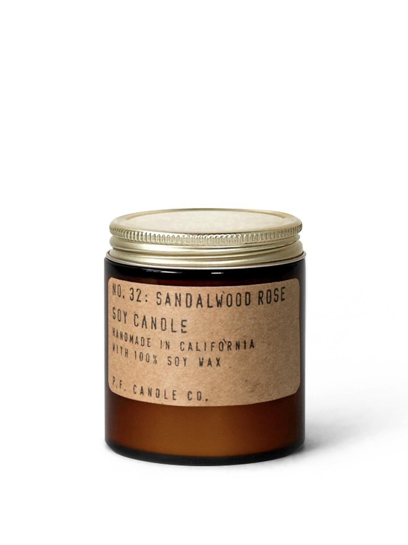 Sandalwood Rose Mini 3.5 oz Soy Candle - P.F. Candle Co.