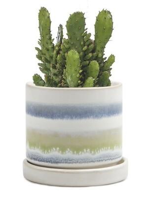 Chive Blue/Green Layers Minute 2 Ceramic Pot- MIPSBG