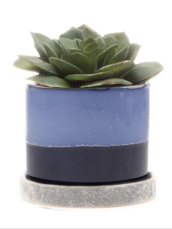 Chive Cobalt Blue Minute Ceramic Pot- MIPSCB