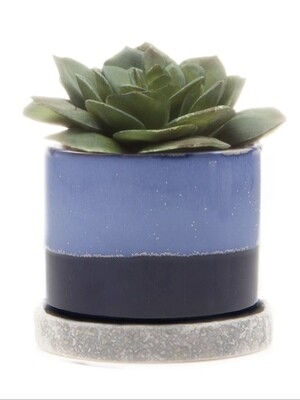 Chive Cobalt Blue Minute Ceramic Pot- MIPSCB