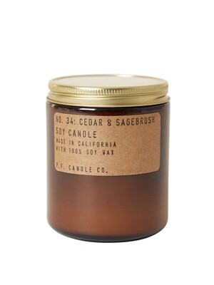 Cedar & Sagebrush 7.2 oz Soy Candle - P.F. Candle Co.