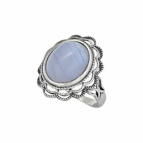 Sterling Silver Blue Lace Agate Ring - RTM3408