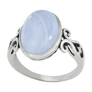Sterling Silver Blue Lace Agate Ring - RTM3752
