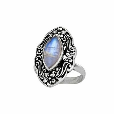 Sterling Silver Rainbow Moonstone Ring - RTM3344