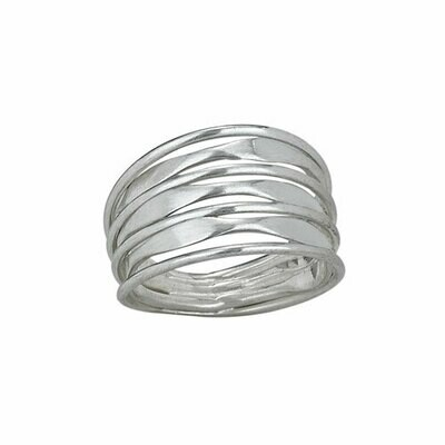 Sterling Silver Multi Bands Ring - RTM2857