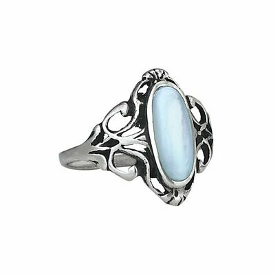 Sterling Silver Mother of Pearl Ring - RTM2879