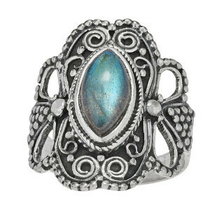 Sterling Silver Filigree Labradorite Ring- RTM3335