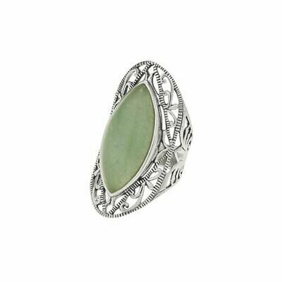 Sterling Silver Filigree Aventurine Ring - RTM3623
