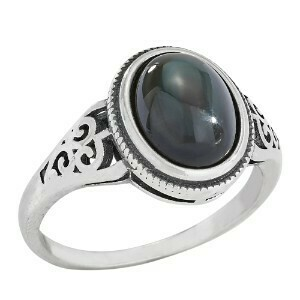 Sterling Silver Rainbow Obsidian Ring - RTM 4015
