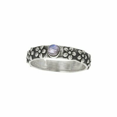 Sterling Silver & Moonstone Daisy Band - RTM4400
