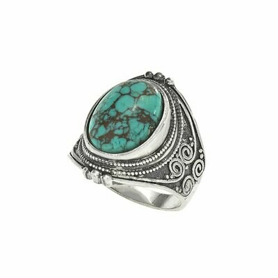 Sterling Silver Turquoise Saddle Ring - RTM3600