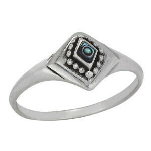 Sterling Silver Paua Shell Ring - RTM3905