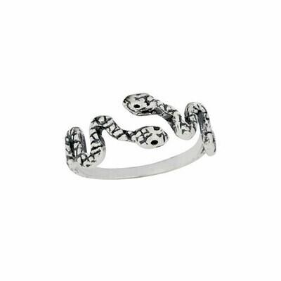 Sterling Silver Snake Friends Ring - RTM4353