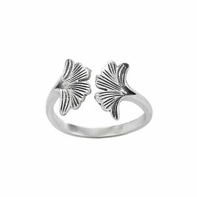 Sterling Silver Gingko Leaf Ring - RTM3326