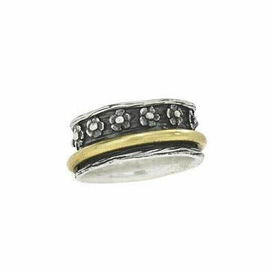 Sterling Silver & Bronze Spinner Ring - RTM3439