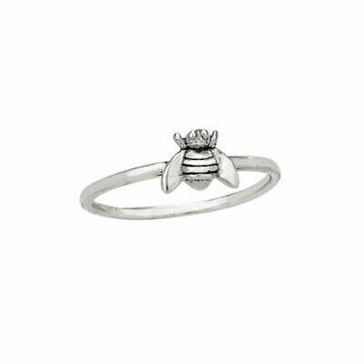 Sterling Silver Little Bee Ring - RTM3589