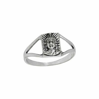 Sterling Silver Buddha Head Ring - RTM4051
