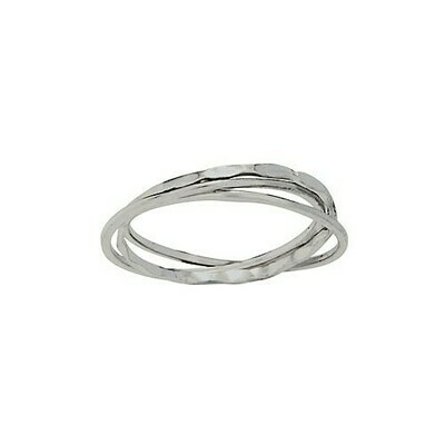 Sterling Silver Connected Band Trio - RTM4264