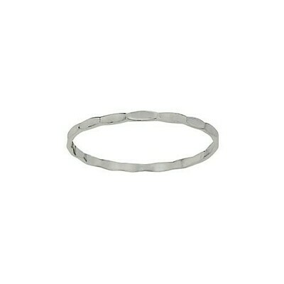 Sterling Silver Skinny Hammered Band - RTM4272