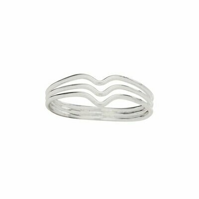 Sterling Silver Three V Band - RTM4262