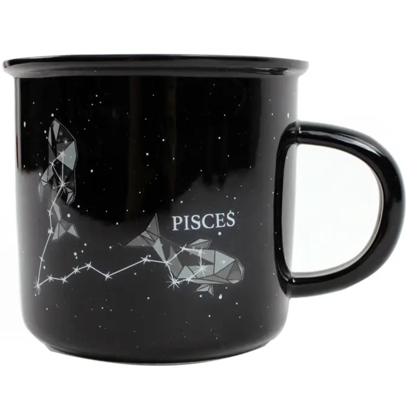 Pisces Constellation Ceramic Camp Mug