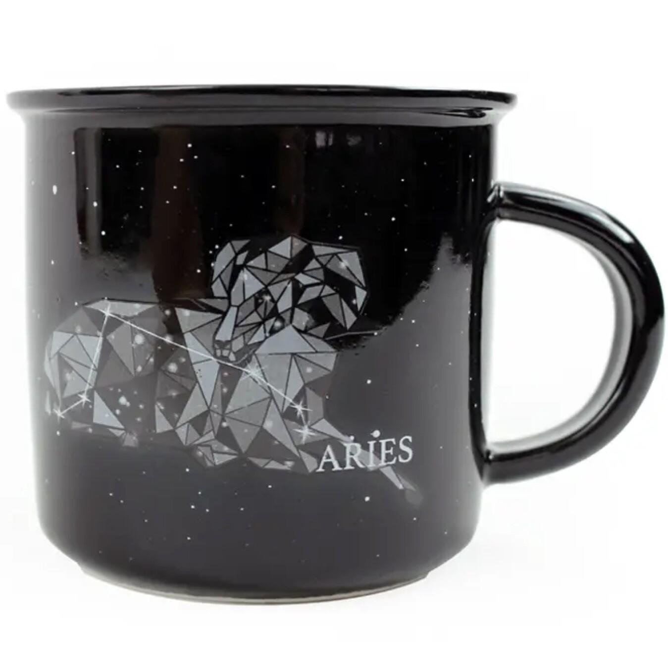 Aries Constellation Ceramic Camp Mug