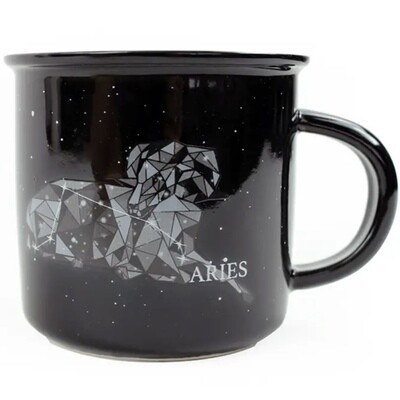 Aries Constellation Ceramic Camp Mug