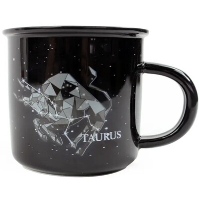 Taurus Constellation Ceramic Camp Mug