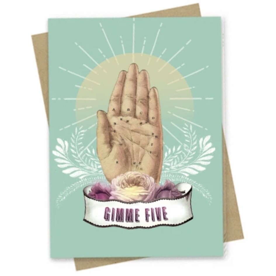 Gimme Five Small Greeting Card - PAC175