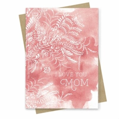 I Love You Mom Small Greeting Card - PAC178