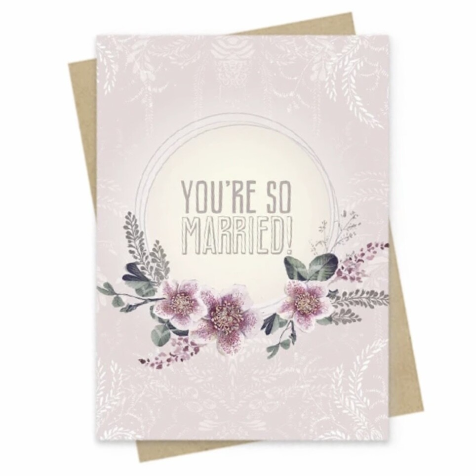So Married Small Greeting Card - PAC159