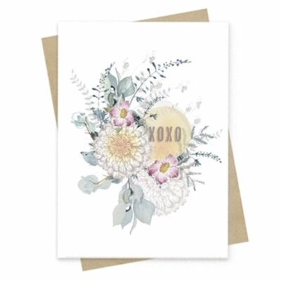 XOXO Petals Small Greeting Card - PAC154