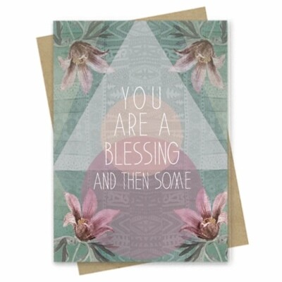 You Are A Blessing Small Greeting Card - PAC172