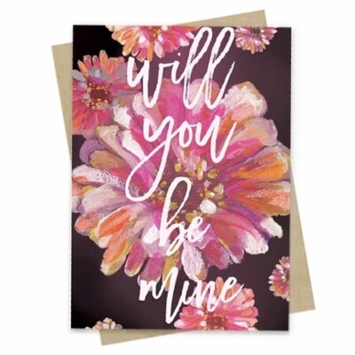 Will You Be Mine Small Greeting Card - PAC132