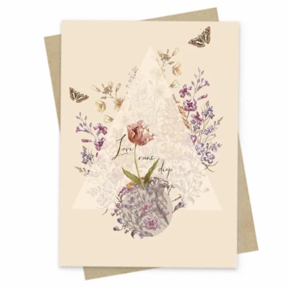 Love Runs Deep Small Greeting Card - PAC161
