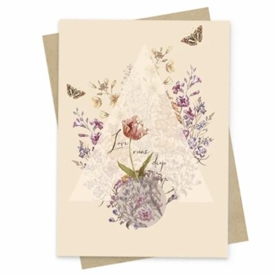 Love Runs Deep Small Greeting Card - PAC161