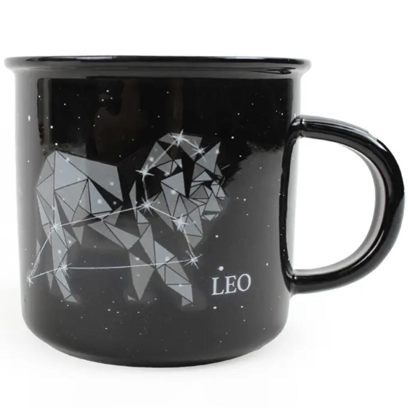 Leo Constellation Ceramic Camp Mug