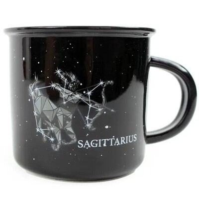 Sagittarius Constellation Ceramic Camp Mug