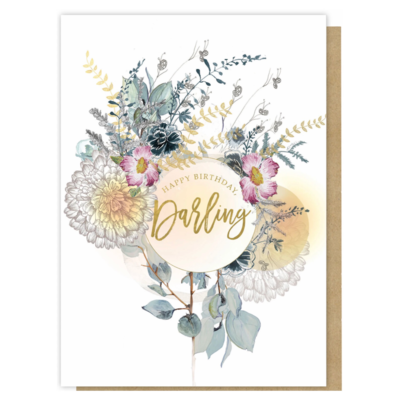 Happy Birthday Darling Greeting Card - PAC332
