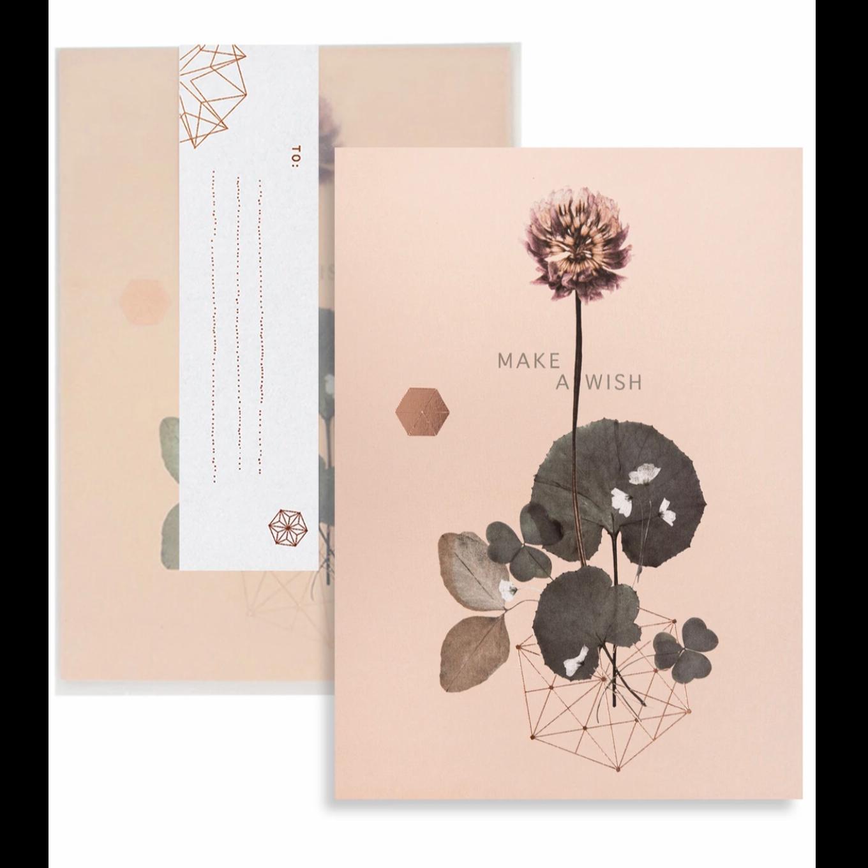 Make A Wish Clover Greeting Card - PAC123
