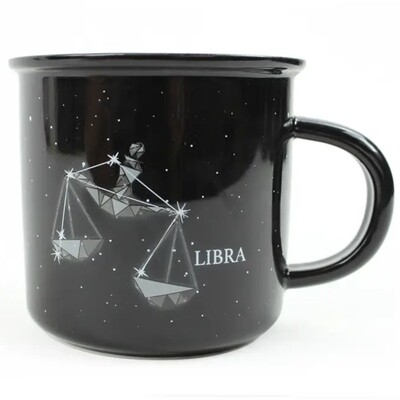 Libra Constellation Ceramic Camp Mug