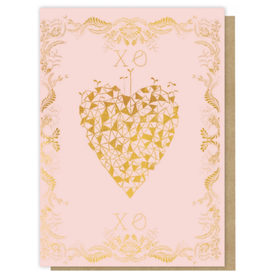 XOXO Sweet Heart Greeting Card - PAC29